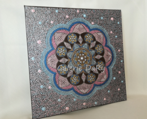 Mandala dot painting