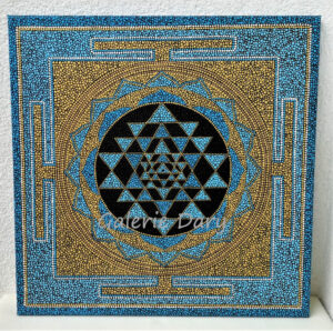 Sri yantra - mandala dot art