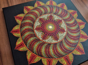 Mandala dot art 3D